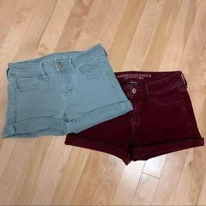 AEO Bundle of 2 midi shorts